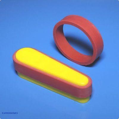 Flipperfinger Gummi Flachgummi, 1/2x1-1/2  (12,5 x 38,1mm) ROT - SILIKON