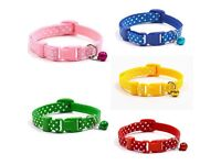 Pet Cat Puppy Collar With Dots And Bell