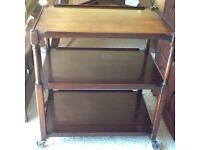Older style 3 tier wooden tea trolley