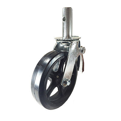 Scaffold Caster 8 X 2 Wheels W Locking Brakes 1-38 Stem 500 Lbs. Capacity