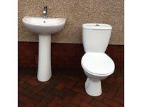 Toilet and handbasin