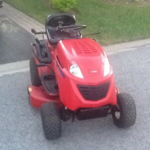 Toro LX426 lawn tractor with dual bagger, snowblower and trailer