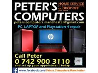 Computer, Laptop and PS4 Repairs . FREE DIAGNOSTICS . NO FIX, NO FEE . Manchester M18