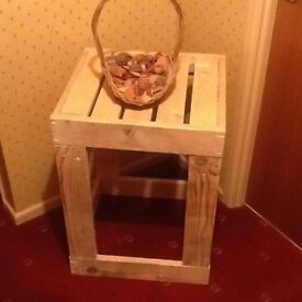 Selection of recycled pallet wood coffee tables & corner table