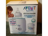 Philips Avent Express Bottle and Baby Food Warmer, brand new in box