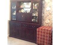 Walnut sideboard / display cabinet