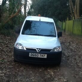 VAUXHALL CREWVAN COMBO 2010/60 REG I OWNER FACTORY FITTED BELTED REAR FOLDOWN SEAT MOT AUG 17 S/l/D