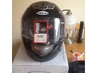 Motor cycle crash helmet for sale. Fareham