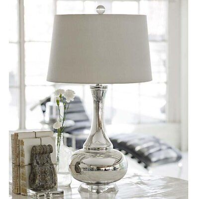 - Regina Andrew Design Contemporary Mercury Glass Gourd Table Lamp