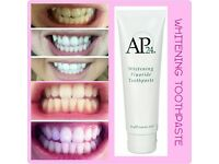 AP-24 Whitening Fluoride Toothpaste 110g - NO HARMFUL CHEMICALS OR PEROXIDES