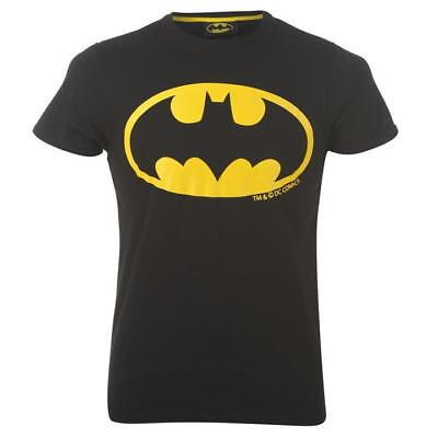 Jungen Schwarz Batman Kostüm Superhero T-Shirt Kurzärmlig Top Alter 2-8 Jahre