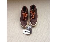 Brown full leather vans - size 6.5