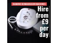 HIRE from £9 per day Diamond Dermabrasion machines UK