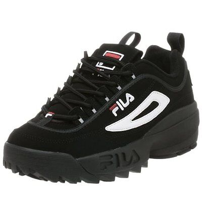 New Men Fila Disruptor Ii Fbs Syn Shoes Black White Red Fw01653018