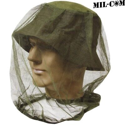 (MIL-COM MOSQUITO HEAD NET ARMY STYLE PROTECTIVE HEAD FACE WEAR MESH HAT INSECT)