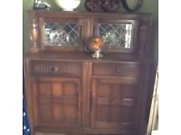 For sale sideboard with display cabinet