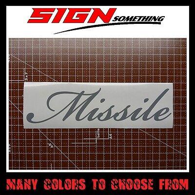 Missile Sticker   Vinyl   Decal Beast Savage Hoonigan Illest Drift Beat Daily