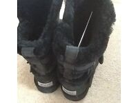 Black waterproof Ugg boots