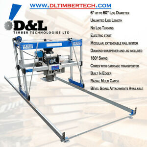 D&L 1020 180° Swing Blade Portable Sawmill