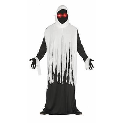 Light Up Eyes Druid Ghost Ghoul Phantom Halloween Fancy Dress Costume (Druid Halloween Costume)