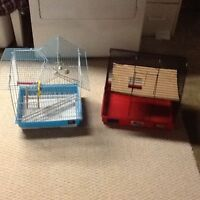 Birds and hamster cage both for 15$
