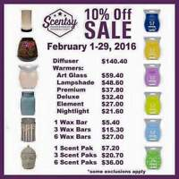 Scentsy is 10% off this month! Order Today!
