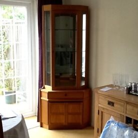 Nathan corner display cabinet.