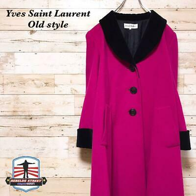 YVES SAINT LAURENT PINK COAT 36 JACKET WOMEN AUTHENTIC RARE LADIES USED F/S](Authentic Pink Ladies Jacket)