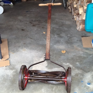 Vintage lawnmower made in Guelph Ontario