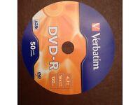 Verbatim DVD-R 50-off Blank Discs 16x 4.7GB 120min