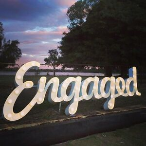 $250 ENGAGED LIGHT UP LETTERS SIGN FOR HIRE FREE DELIVERY Perth Perth City Area Preview