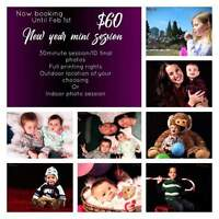 $60 New year mini session deal!!