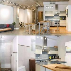 1 1/2 Studio Loft Meublé et équipé situé Au Niveau Du Plateau.