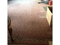 Lovely old rug 10 x 8ft approx