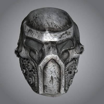 Cyborg Halloween Kostüme (Adult Metallic Warrior Cyborg Mask Halloween Wars Fancy Dress)