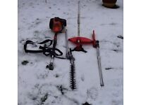 Timberpro Petrol Grass Strimmer with strap + attachments works great cb5 £85