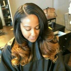 Professional sew in Weaves with leave out, weaves with closure/frontal, 360 weaves etc from £40