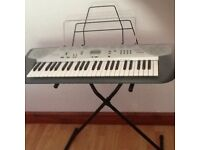 CASIO CTK-230 ELECTRONIC SONG BANK KEYBOARD AND STAND