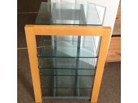 HI-FI STEREO STAND X6 TOUGHENED GLASS SHELVES.