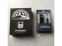 Peterson stroboplus hd tuner and clip on pick up this can tune all musical instruments even bagpipes