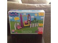Peppa pig playground swing construction set Brand new 18months +
