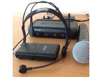 Shure radio mic and head / guitar mic,receiver etc.