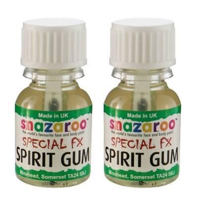 2 x Snazaroo Spirit Gum Adhesive Fake Wounds 10 ml FX Scars Skin Glue Halloween - Halloween Skin Glue