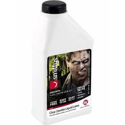 Smiffy's Large 16oz Zombie Skin Liquid Latex Low Ammonia Halloween - Latex Liquid Halloween