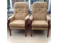 Pair Parker Knoll Armchairs