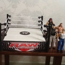 RAW Spring loaded wrestling ring,