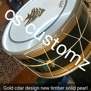 Gold cedar tree design drum lebanese arabic mid east nation tubel Sydney City Inner Sydney Preview
