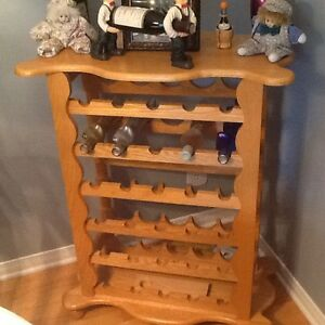 Solid Oak Wine Rack Cornwall Ontario image 1