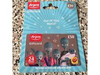 Argos voucher £50