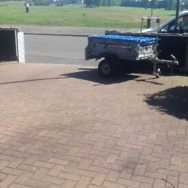 Eder 22 trailer with jockey wheel and bungey rope year old